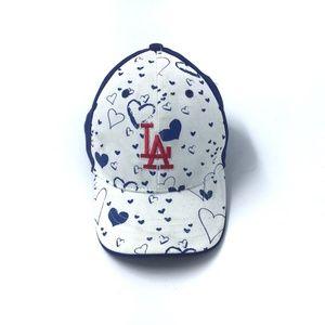 Dodgers LA MLB Adjustable Cap Hat Kids with hearts